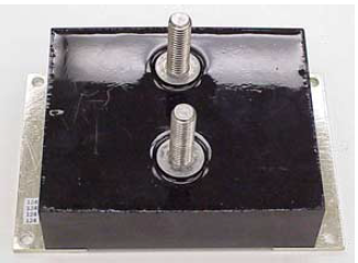 Photograph of the high-current handling film capacitor