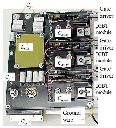 Photograph of the inverter assembly