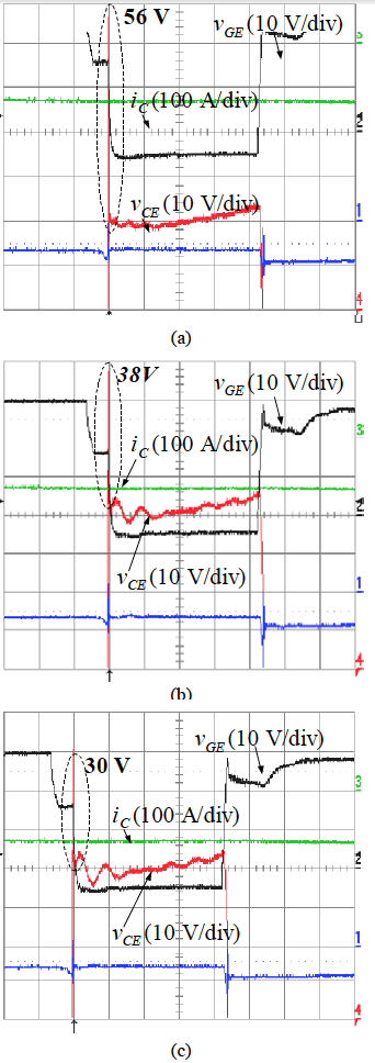 Device voltage turn-off overshoot