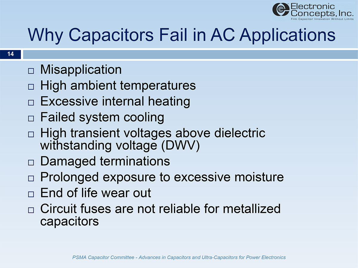 AC Film Capacitors for Inverter Output Filters -